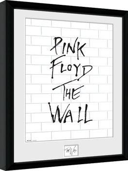 Pink Floid: The Wall - White Wall Zarámovaný plagát