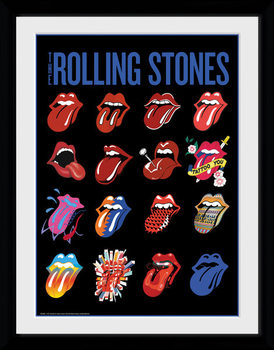 The Rolling Stones - Tongues rám s plexisklom