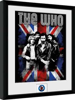 The Who - Union Jack Zarámovaný plagát