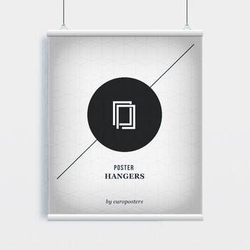 EBILAB Perchas para pósteres - 2 piezas longitud 100 cm  blanco