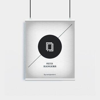 EBILAB Perchas para pósteres - 2 piezas longitud 50 cm  blanco