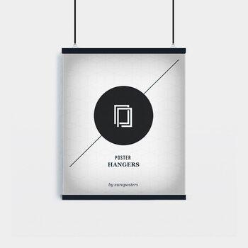 EBILAB Perchas para pósteres - 2 piezas longitud 50 cm  negro