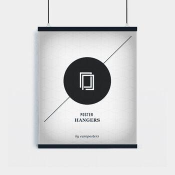 EBILAB Perchas para pósteres - 2 piezas longitud 61 cm  negro