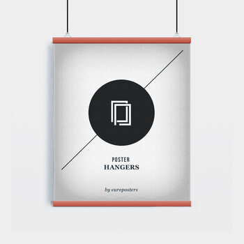EBILAB Perchas para pósteres - 2 piezas longitud 61 cm  rojo