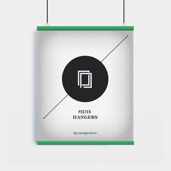 EBILAB Perchas para pósteres - 2 piezas longitud 61 cm  verde