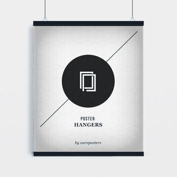 EBILAB Perchas para pósteres - 2 piezas longitud 91,5 cm negro