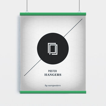 EBILAB Perchas para pósteres - 2 piezas longitud 91,5 cm verde