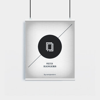 EBILAB Plastové lišty na plagáty - 2ks Dĺžka 53 cm  biely