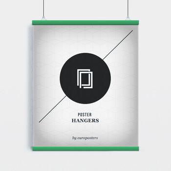 EBILAB Plastové lišty na plagáty - 2ks Dĺžka 91,5 cm zelená