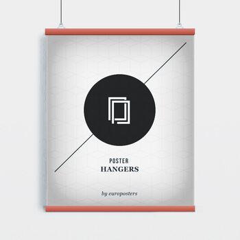 EBILAB Plastové lišty na plakáty - 2ks Délka: 91,5 cm - červená