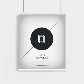 EBILAB Șine de susținere postere- 2 buc lungime 61 cm  alb