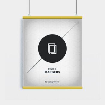 EBILAB Șine de susținere postere- 2 buc lungime 61 cm  galben
