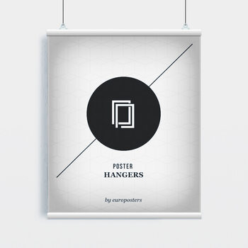 EBILAB Șine de susținere postere- 2 buc lungime 91,5 cm  alb