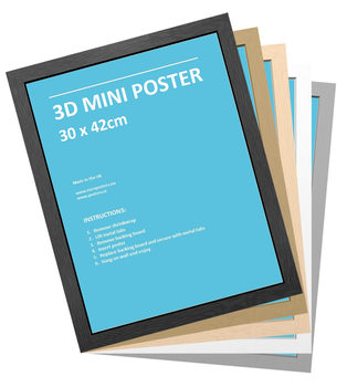 Ramme - 3D MiniPlakat 30x42 cm