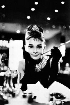 Audrey Hepburn - breakfast rámovaný plakát