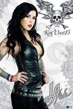 L.A INK Kat Von D Tattoo rámovaný plakát
