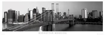 Manhattan - morning b&w rámovaný plakát