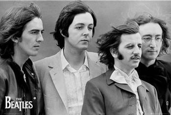 The Beatles - fab four rámovaný plakát