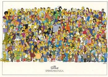 The Simpsons - cast rámovaný plakát