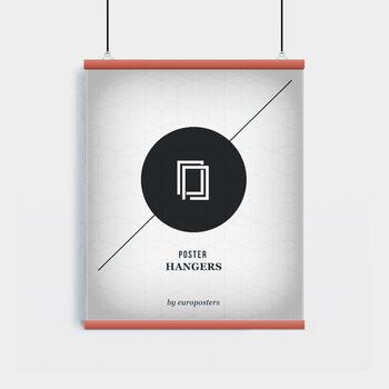 EBILAB Listelli per poster - 2 pezzi lunghezza 61 cm  rosso