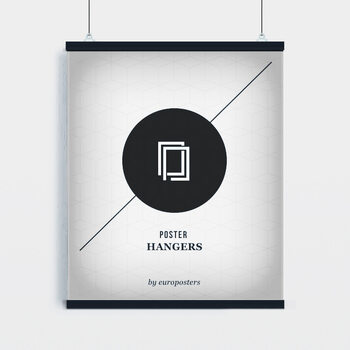 EBILAB Perchas para pósteres - 2 piezas longitud 100 cm  negro