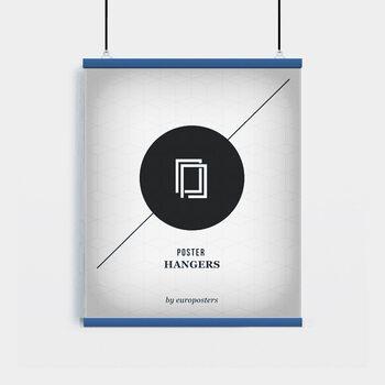 EBILAB Perchas para pósteres - 2 piezas longitud 61 cm  azul