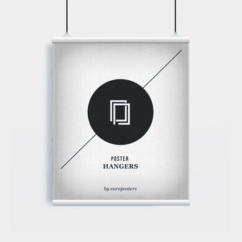 EBILAB Perchas para pósteres - 2 piezas longitud 61 cm  blanco