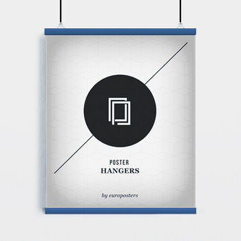 EBILAB Perchas para pósteres - 2 piezas longitud 91,5 cm azul