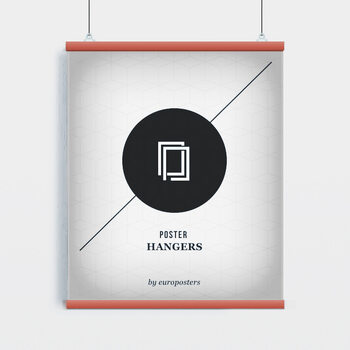 EBILAB Perchas para pósteres - 2 piezas longitud 91,5 cm rojo