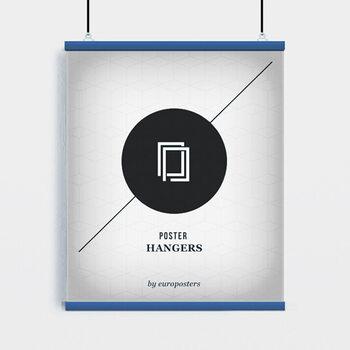 EBILAB Plastové lišty na plagáty - 2ks Dĺžka 91,5 cm modrý