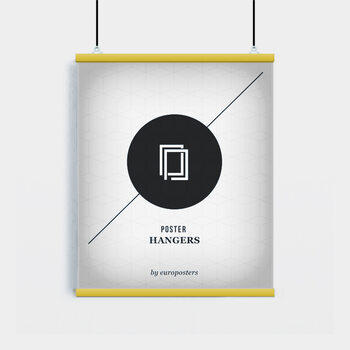 EBILAB Posterhalter - 2 Stück Länge 61 cm gelb