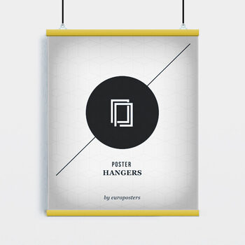 EBILAB Posterhalter - 2 Stück Länge 91,5 cm gelb