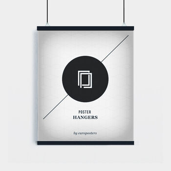 EBILAB Réglettes pour affiche - 2 pièces longueur 61 cm  noir