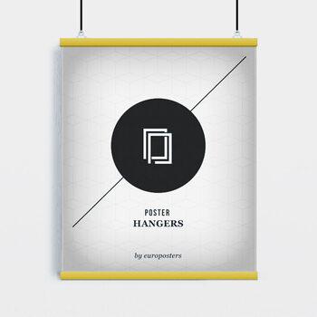 EBILAB Șine de susținere postere- 2 buc lungime 91,5 cm galben