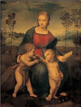 Raphael Sanzio - Madonna of the Goldfinch - Madonna del Cardellino Festmény reprodukció