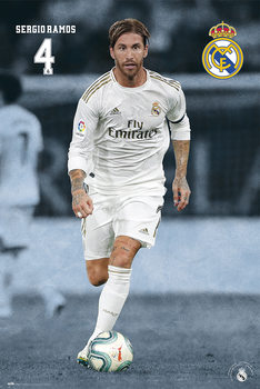 Poster enmarcado Real Madrid 2019/2020 - Sergio Ramos