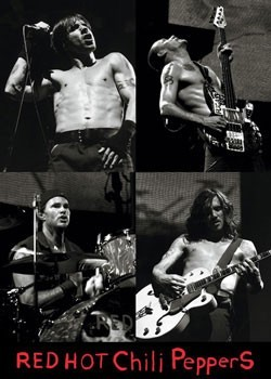 Red hot chili peppers Live - плакат (poster)