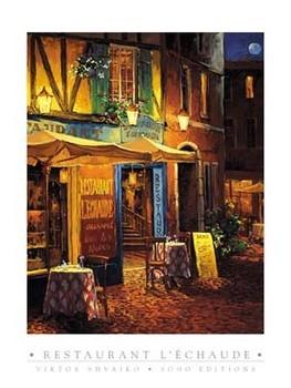 Restaurant L\\\\\\\'Echaude Festmény reprodukció