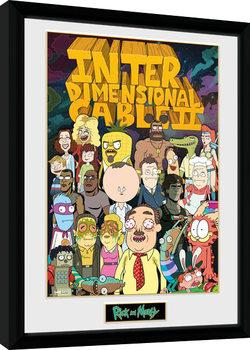 Πλαισιωμένη αφίσα Rick and Morty - Interdimentional Rick