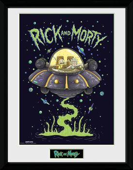 Πλαισιωμένη αφίσα Rick and Morty - Ship