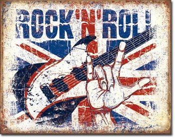 Rock n Roll Plaque métal décorée