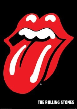 Rolling Stones - lips - плакат (poster)
