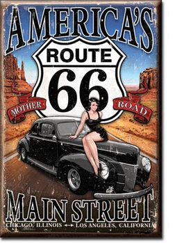 Route 66 - America's Main Street Magnet
