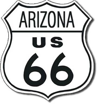 ROUTE 66 - arizona Metalen Wandplaat