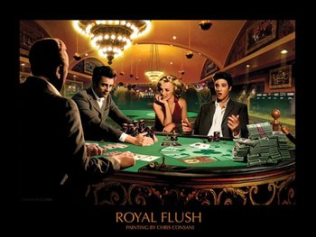 Royal Flush - Chris Consani Festmény reprodukció