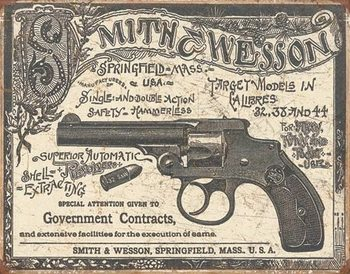 S&W - 1892 Gov. Contracts Metalen Wandplaat