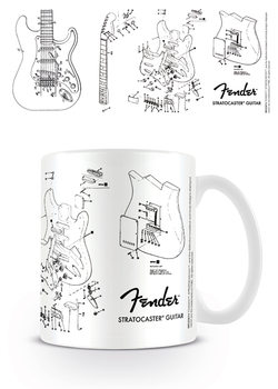 Fender - Exploding Stratocaster Šalice