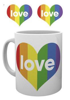 Pride - I Love Heart Šalice
