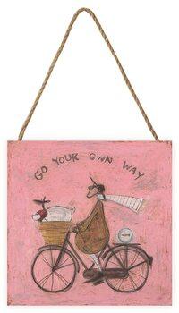 Bild auf Holz Sam Toft - Go Your Own Way
