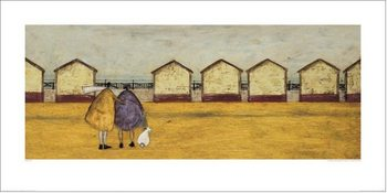 Sam Toft - Looking Through The Gap In The Beach Huts Festmény reprodukció
